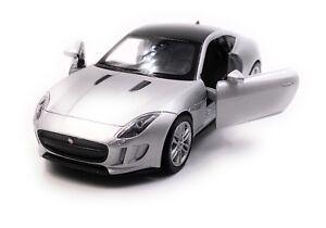 Jaguar-Jag-F-TYPE-voiture-miniature-voiture-Argent-Echelle-1-34-LGPL