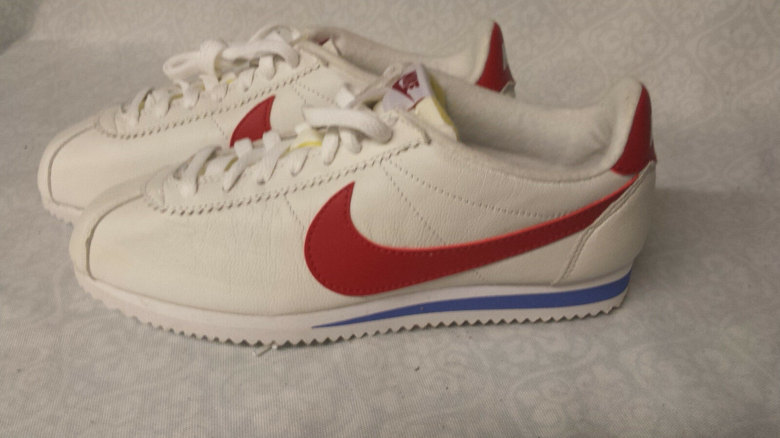 Cheap and beautiful fashion NIKE CORTEZ BASIC LEATHER  size 7 Forrest Gump Red White Blue 882254-164
