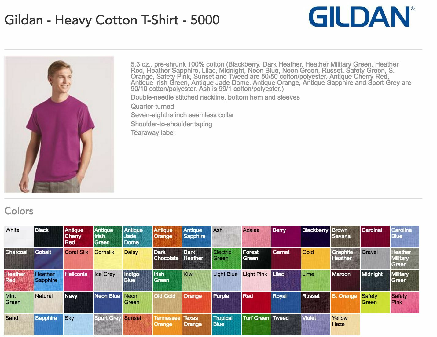 100 Gildan T-SHIRTS BLANK BULK LOTS Farbes or 108 Weiß Plain S-XL Wholesale 50