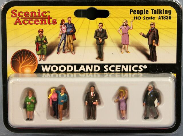 Woodland Scenics HO Scale Scenic Accents Figures//People Set Miners 6