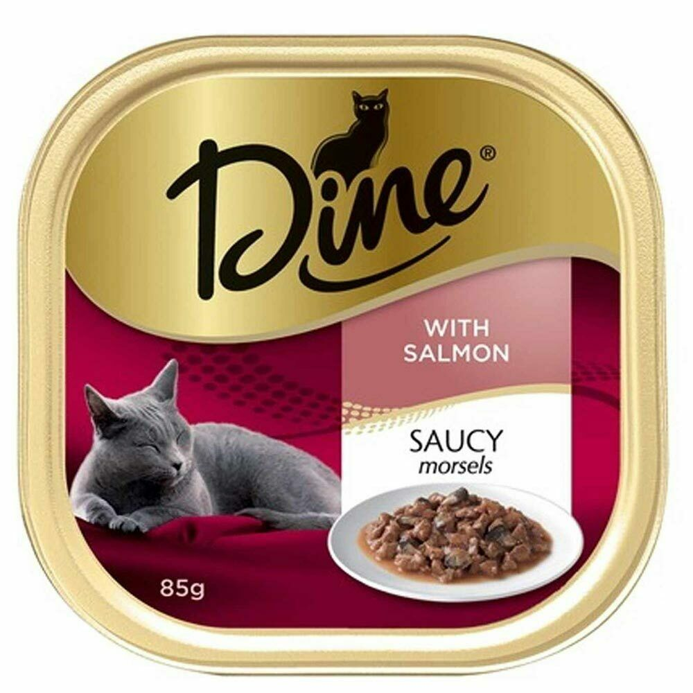 Dine Cat Food Saucy Morsels With Salmon 14 X 85g For Sale Online Ebay