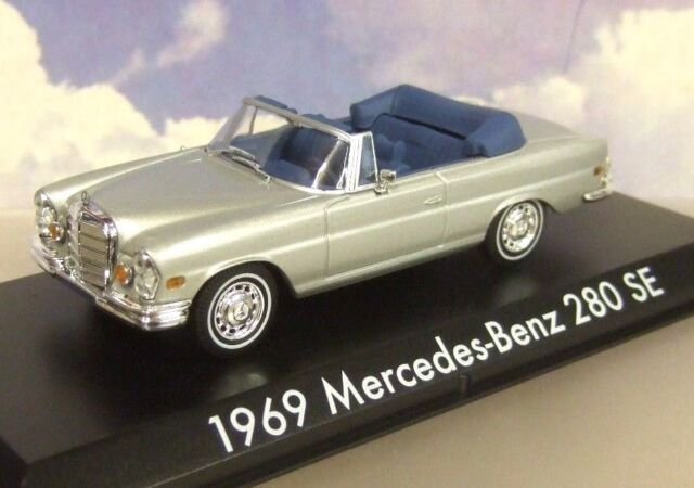 "Greenlight 1/43 1969 Mercedes-Benz 280 Se Plata Abierto Convertible ""The"