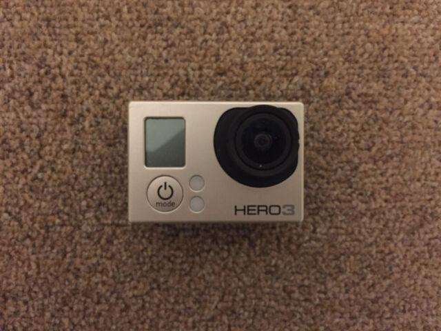 REFURBISHED Silver GoPro HERO3 w/ NEW ACCESSORIES