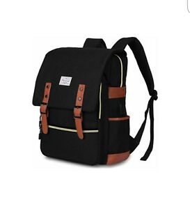 57f52594b78 Image is loading Modoker-Vintage-Laptop-Backpack-for-Women-Men-School-