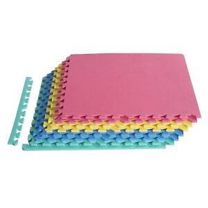 Homcom-A93-005-Puzzlematte-Bodenschutzmatte-Turnmatte-EVA-24-teilig-H16