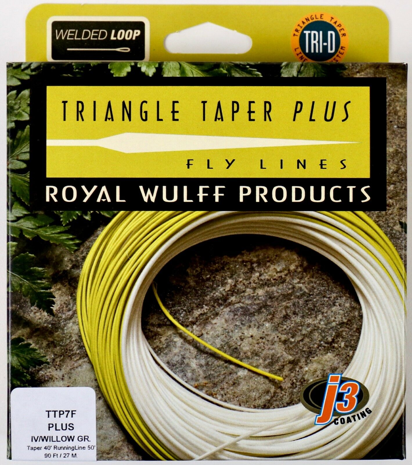 Royal Wulff Triangle Taper Plus 7 WT Floating Fly Line Free Fast Shipping TTP7F