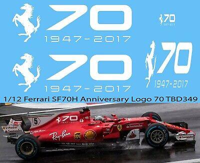 1//43 FERRARI SF70H 2017 70TH ANNIVERSARY DECALS  VETTEL RAIKKONEN DECAL TBD337