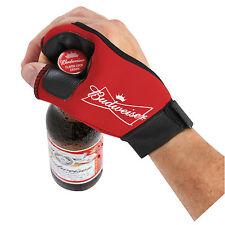 NEW Authentic BUDWEISER glove BOTTLE OPENER Red Bud Light Bartender Beer Busch