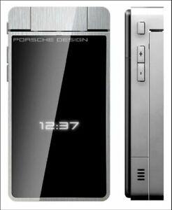 Porsche-Design-P-039-9521-Schwarz-Silber-von-Vodafone-Ohne-Simlock-Klappandy