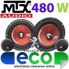 """Peugeot Partner 97-07 MTX  6.5"""" 480 Watts Component Kit Front Door Car Speakers"""