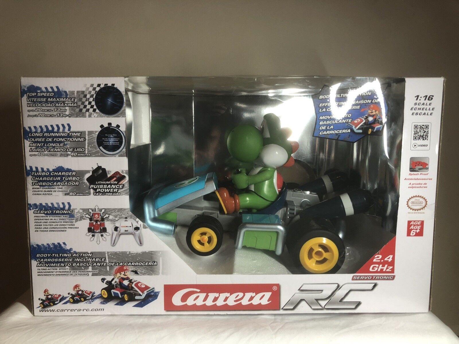 Carrera RC 1 16 Mario Kart™ Yoshi Race Kart With Sound 2.4 GHz Full Suspension