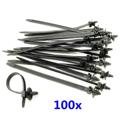 100x Mixed Nylon Cable Tie Bundled Car Wire Harness Line Fastener Zip Clip Band