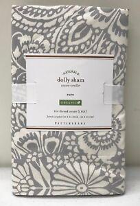 New Pottery Barn Dolly Organic Floral Euro Sham Gray Ebay