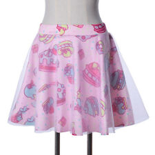 Harajuku Gauze Double Layer Lolita TUTU Skirt Mini Dress Cake Ice Cream Print