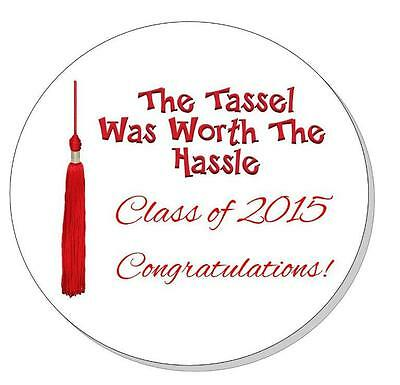 Graduation Party Favor Stickers Labels - Tassel - 6 Colors - Ships in 24hrs!