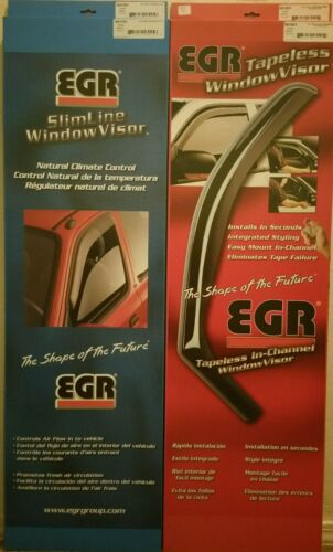 EGR tapeless window visor 571701