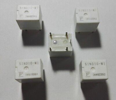 5pcs of FUJITSU 51ND10-W1 10VDC 35A Relays Relay