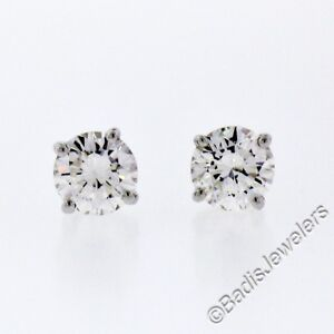 Image Is Loading New 14k White Gold Simple Clic 0 50ctw