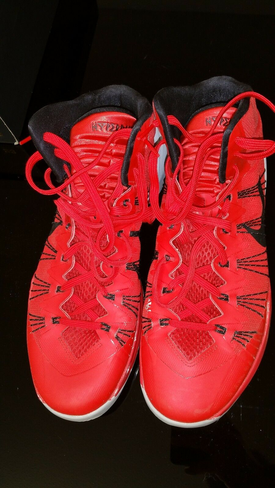 buy popular e45ae 080a6 Nike HYPERDUNK 2013 599537 600 University University University Red Black  Grey Basketball Shoes SZ 5210fe