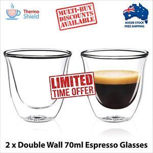 2-x-Double-Walled-Espresso-Cups-Clear-Glass-Coffee-Tea-Mugs-Heat-proof