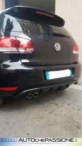 Estrattore-per-VW-Golf-6-dal-2008-gt-2012-con-fori-per-2-scarichi-laterali-ABS
