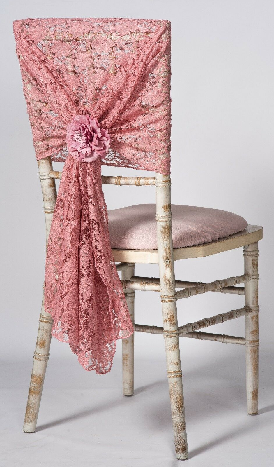 100 Rose Poudré Dentelle Chair Hoods 29 x70  wedding event decor