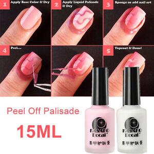 Nail-Art-Peel-Off-Palisade-Base-Coat-Liquid-Tape-Manicure-Polish-Clean-DIY-15ml