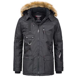 Geographical-Norway-Herren-Parka-Outdoor-Funktionsjacke-Sehr-Warm-Winter-Jacke