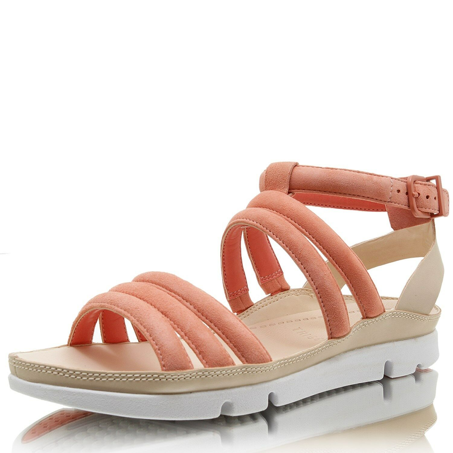 NEW CLARKS Tri Nyla Coral Suede Sandals - UK SIZE 5.5D
