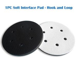 6-Trou-6-034-Soft-Interface-Pad-Crochet-amp-Boucle-en-Mousse-Souple-disque-Proteger-poncage-disque