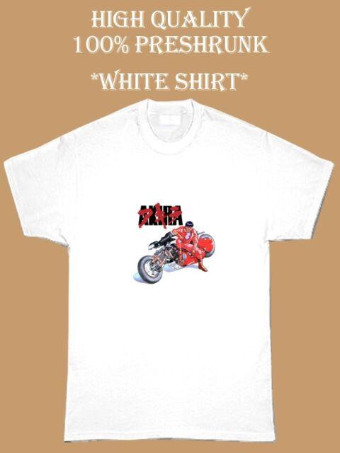 vintage Tshirt Anime tee popular design man and women  unisex tee Akira motorbike vtg