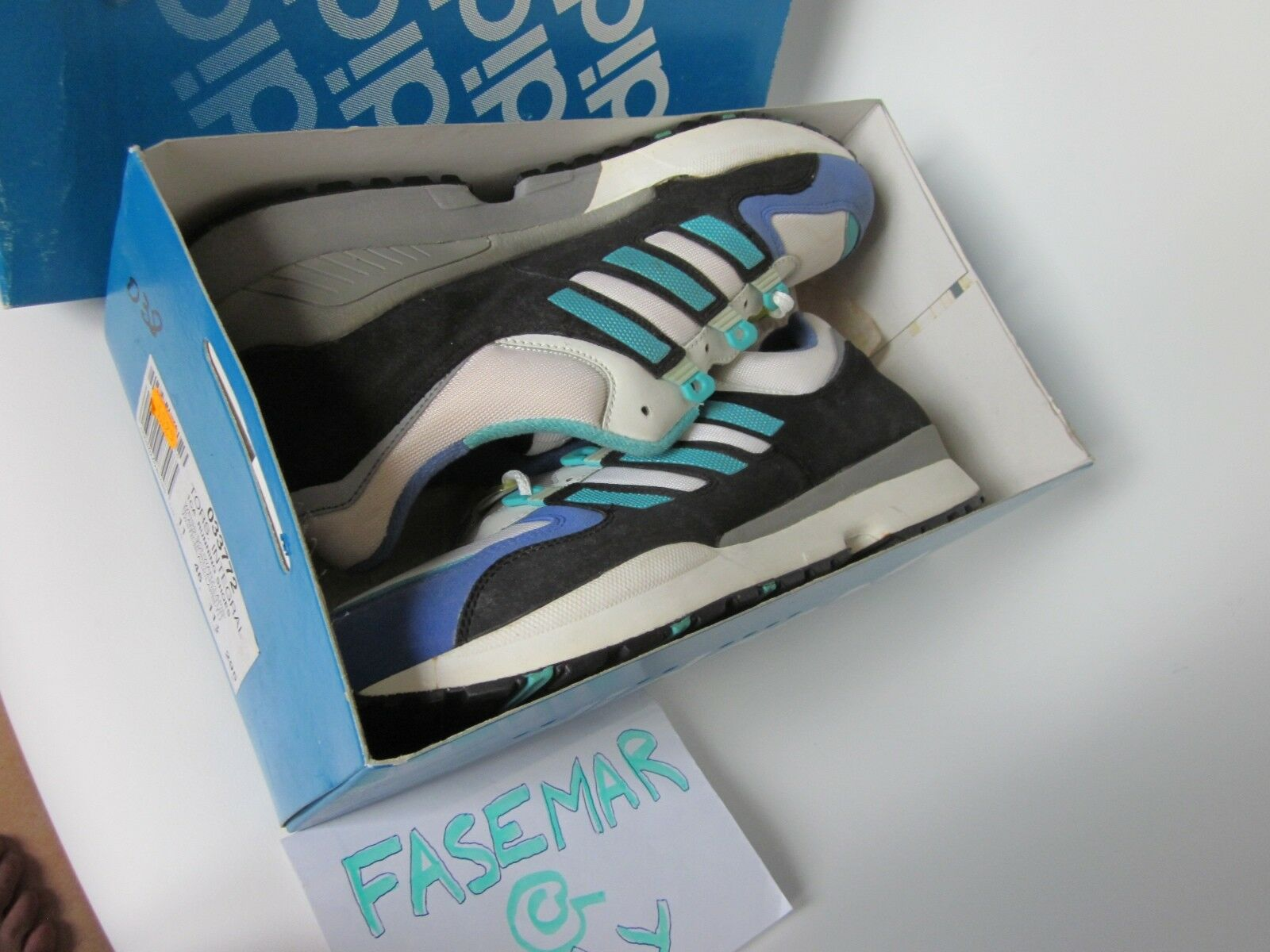 ORIGINAL ADIDAS TORSION INTEGRAL S 1991 US11,5/46EUR GRAND OPENNG OFF-blanc