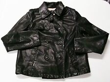 GAP Jacket Small S Leather Jacket Double Breasted Motorcycle Military Women's