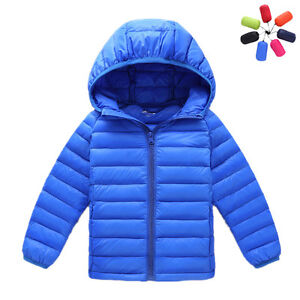 2f75467cdcb Children Down Jacket Girls Boys Light White Duck Down Winter Coats ...