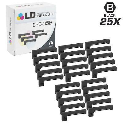 LD Compatible Epson ERC-05B Set of 10 Black Printer Ribbon Cartridges