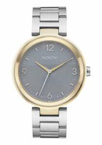 Nixon-Ladies-Chameleon-Stainless-Steel-Gold-Tone-Bezel-39mm-Watch-A991-2477-NEW