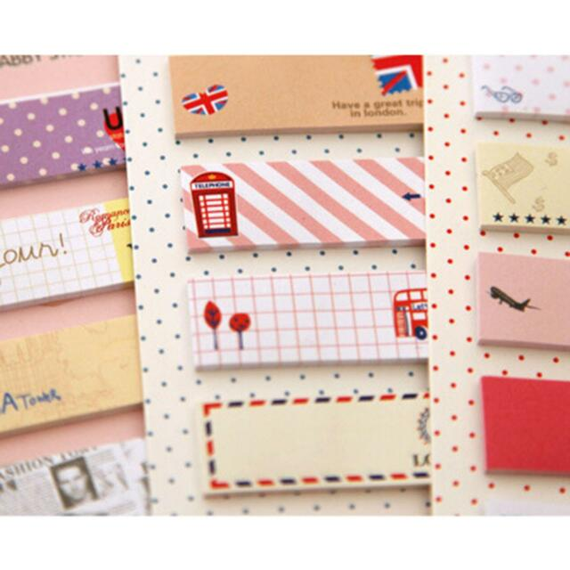 Office Supply Bookmark Marker Memo Sticky Notes Sticker Cute Pattern New