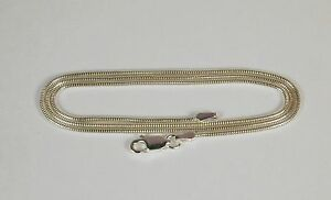 Sterling-Silver-Snake-Chain-Necklace-1-4mm-16-034-18-034-or-20-034-Free-U-S-Shipping