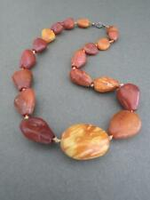 Vintage Baltic Butterscotch Egg Yolk Amber Necklace Very Old Silver Clasp