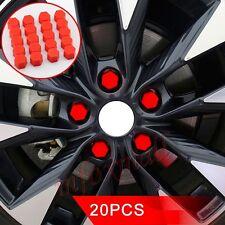 19mm 20PCS Car Bolt Head Hexagonal Screw Nut Silicone Cap Cover Accessories Red
