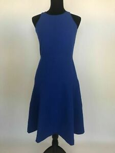 BANANA-REPUBLIC-119-NWT-Blue-Stretch-Fit-amp-Flare-Dress-Size-6-amp-6-Tall-Lined