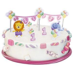 Torten Dekoset 1 Geburtstag Madchen 10 Teilig Fur Geburtstags