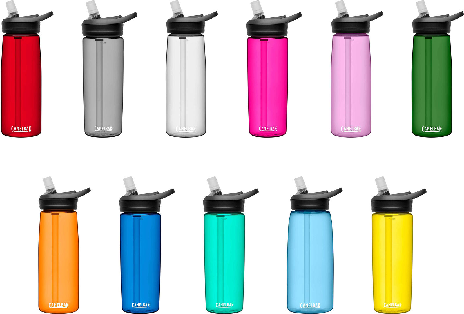 New CamelBak Eddy Pink Water Bottle Replacement Cap /& Straw Free Shipping