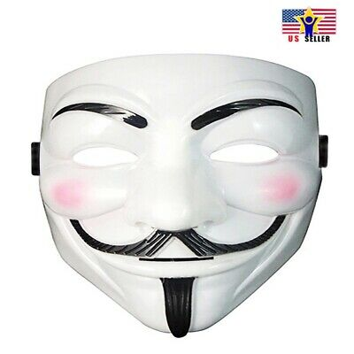 V For Vendetta Face Mask Guy Fawkes Halloween Cosplay Anonymous