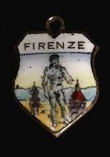 ❤️ Bettelarmband Anhänger Wappen Firenze DAVID MIchelangelo FLORENZ Charm L95