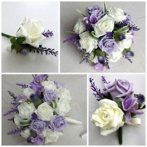 Image Is Loading Lilac Thistle Wedding Flowers Brides Bouquet Bridesmaid Onhole