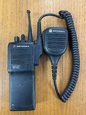 Motorola Mts2000 Radio H01wcd4pw1cn 900 Mhz Portable Display Battery Speaker Mic