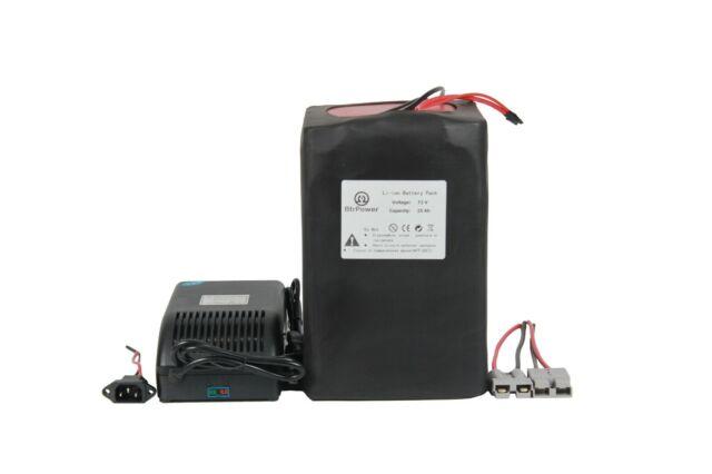 72V 25Ah Max 3000W Ebike Battery Lithium Li-ion Pack for Electric Bike Scooter