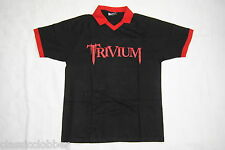TRIVIUM LOGO FOOTBALL SOCCER POLO T SHIRT LARGE NEW OFFICIAL SHOGUN IN WAVES