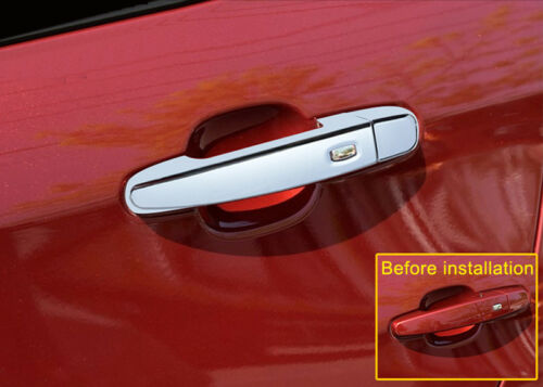 ABS Chromed Car Door Handle Cover Trim With Hole for Chevrolet Equinox 2018 2019
